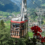 Hike from Pfingstegg lift station to Berghaus Bäregg, above Grindelwald, Switzerland, the Alps, Europe.