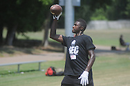 D.K. Metcalf attends the Southern Elite Combine at FNC Park in Oxford, Miss. on Wednesday, July 10, 2013.