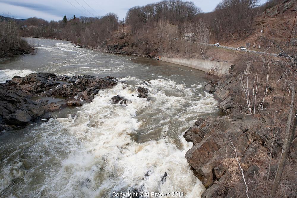 Spring High Water, Connecticut River, Bellows Falls, VT.