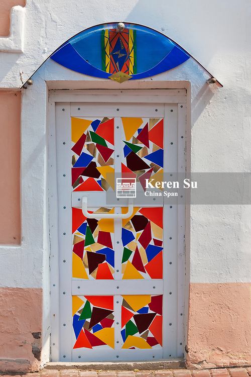 Painted door, Vitebsk, Belarus