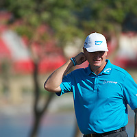 19.01.2013 Abu Dhabi, United Arab Emirates.  Ernie Els in action during the European Tour HSBC Golf championship  third round from the Abu Dhabi Golf Club.