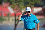 19.01.2013 Abu Dhabi, United Arab Emirates.  Ernie Els in action during the European Tour HSBC Golf championship  third round from the Abu Dhabi Golf Club.