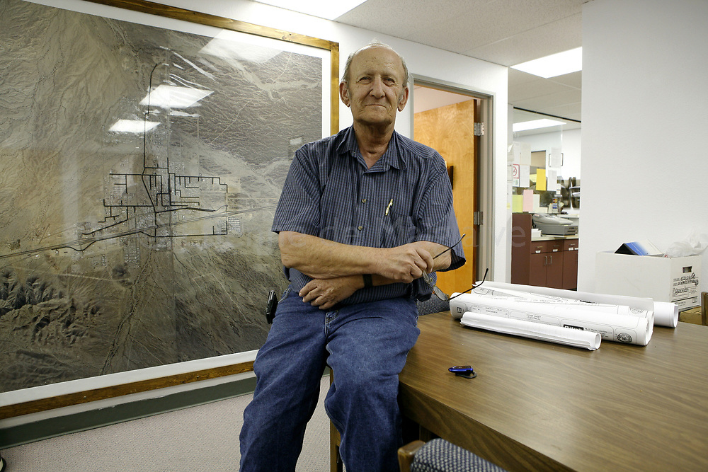 Quartzsite mayor Verlyn Michel in his office at the  city hall.  22 January 2008.