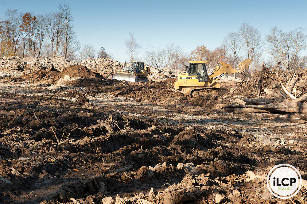 Forest clearance for Well-Pad. Bradford County, Marcellus Shale, Pennsylvania.