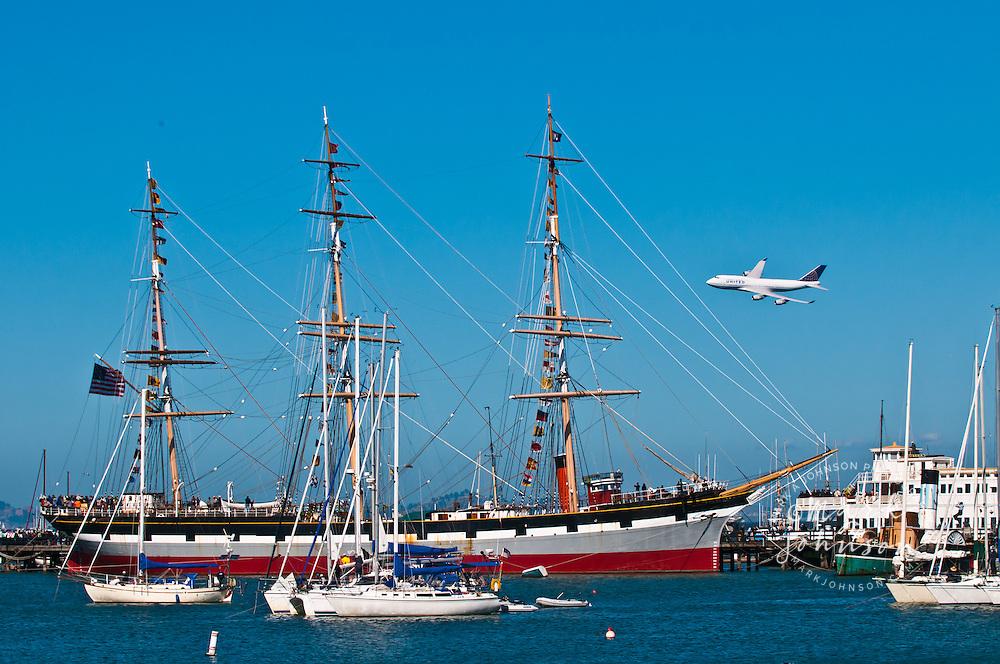 United Airlines 747, Fleet Week Air Show, San Francisco, California, USA