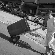 2016 October 22 - Street scene at Post Alley and Pine Street at Pike Place Market, Seattle, WA, USA. By Richard Walker