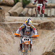 #111 Taddy Blazusiak from Poland made a huge splash in the Endurocross scene as he won the Main Event and took home the first place trophy. <br /> <br /> 2009 Endurocross Round #1 held at the Orleans Arena in Las Vegas, Nevada