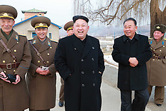 DEC 08 2014 Kim Jong Un inspecting the Korean Peoples Army