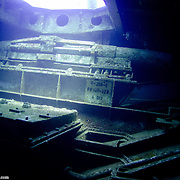 Image from inside the Kittiwake wreck off Grand Cayman
