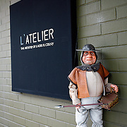 SHOT 6/4/08 3:45:42 PM - Images of Boulder, Co. including L'Atelier restaurant on Pearl Street. L'Atelier is the studio/workshop of Chef Radek Cerny, where he and his staff offer excellence in food artistry and fine dining to their guests. L'Atelier was founded in 2003. The restaurant is small, only 50 seats, and the dining space was created by the noted Denver designer and architect Eric Mandil. Boulder is the 11th most populous city in the state of Colorado. The United States Census Bureau estimates that in 2005 the population of the city of Boulder was 91,685, the population of the Boulder Metropolitan Statistical Area was 280,440. Boulder is the home of the University of Colorado at Boulder, the largest university in Colorado and Naropa University, the only accredited Buddhist-inspired university in the United States. Boulder is situated 25 miles (40 km) northwest of the Colorado State Capitol of Denver at an elevation of 5,430 feet. .(Photo by Marc Piscotty / © 2008)