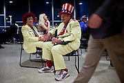 Georgia delegates Edna and Oscar Poole take a break at the Republican National Convention in Tampa, Florida, August 29, 2012.