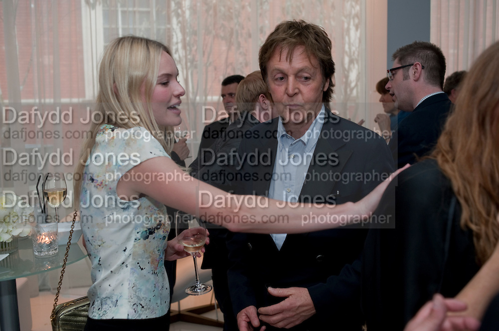 KATE BOSWORTH;  SIR PAUL MCCARTNEY; STELLA MCCARTNEY; ,  Told, The Art of Story by Simon Aboud. Published by Booth-Clibborn editions. Book launch party, <br /> St Martins Lane Hotel, 45 St Martins Lane, London WC2. 8 June 2009