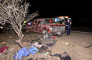 39 suspected illegal immigrants from Mexico, including about ten children, were injured when the crammed pickup truck they were riding in rolled near Green Valley, Arizona, USA.