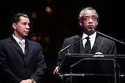 "15 November 2010- New York, NY- l to r: New York State Governor David Paterson and Rev. Al Sharpton, President, National Action Network at The National Action Network's 1st Annual Triumph Awards honoring ""Our Best"" in the Arts, Entertainment, & Sports held at Jazz at Lincoln Center on November 15, 2010 in New York City. Photo Credit: Terrence Jennings"