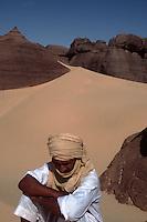 Tuaregs in the Al Hoggar area, Sahara Desert, Algeria.2002 model released..© Owen Franken..2002...