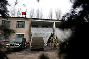 The base of right-wing Prawy Sector in Novohrodivka (Oblast Donetsk), home to selfmade foreign battlegroup Task Force Pluto.<br /> <br /> The Boom Stick Brotherhood <br /> <br /> Fascinated by war and convinced of a simple shaped nationalistic ideology, five vonuteer warriors from Europe and USA left behind their former lifes. Walking into battle in Ukraine, Ben, Alex, Craig, Charlie and Cowboy made it to the frontline and joint the right-wing militia Right Sector, supporting the ukrainian army which is short of staff. Receiving no payments but shelter, food and ammo the foreigners selfmade battlegroup Task Force Pluto is a loose union of individuals and no particular ukrainian phenomenon. The Boom Stick Brotherhood would move on to another conflict around the globe when Ukraine become boring to them. They want to be involved in battle. That&acute;s what they are aiming for. Living a dream of smoking guns, camaraderie and outdoor life. An extreme lifestyle devoted to an everyday look into the face of death.<br /> <br /> The Boom Stick Brotherhood is a multi-national, multi-religious and multi-ethnic group:<br /> Ben, an austrian infantryman travelling hot zones since years. Bored by his own reluctant national army at home he made plenty of experience in Kosovo, Syria, Iraq and Ukraine.<br /> Alex, Ben&acute;s brother in arms from austrian army times deserted and fled the country to get ultimately involed in frontline fights.<br /> Craig was fighting almost 6 years for the US-Army in Iraq and Afghanistan but got in conflict with the law afterwards. He escaped conviction by going abroad.<br /> Charlie was totally bored by his californian routine in Silicon Valley but failed to join the US-Army and French Foreign Legion. Eventually he found battle opportunities in Ukraine.<br /> Petty crook Cowboy got in trouble with US law only days before his Army unit was to deployed to Afghanistan. Later during a day release he made it from prison to France but French Foreign Legio