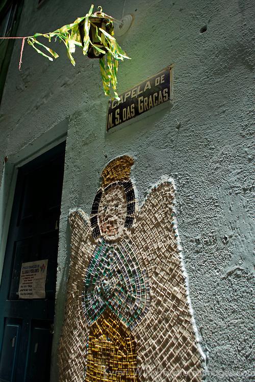 South America, Brazil, Rio de Janeiro. Catholic Church in the Favela of Vila Canoas.