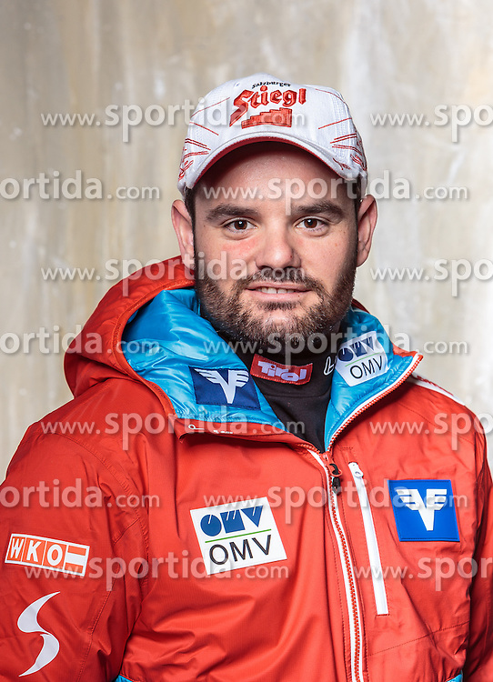08.10.2016, Olympia Eisstadion, Innsbruck, AUT, OeSV Einkleidung Winterkollektion, Portraits 2016, im Bild Hafele Matthias, Skisprung Herren // during the Outfitting of the Ski Austria Winter Collection and official Portrait Photoshooting at the Olympia Eisstadion in Innsbruck, Austria on 2016/10/08. EXPA Pictures © 2016, PhotoCredit: EXPA/ JFK