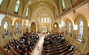 A view inside Catholic church from the choir loft. (Sam Lucero photo)
