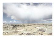 Storm clouds over Bisti Badlands, Bisti/De-Na-Zin Wilderness, New Mexico