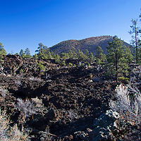 North America, USA, Arizona, Flagstaff.  Sunset Volcano Crater landscape.