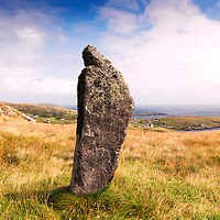 Standing Stone, Isle Of Barra, Outer Hebrides, Scotland