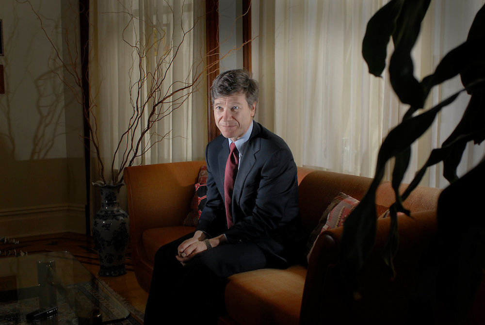 Jeffrey Sachs described as a celebrity economist and a member of the UN at his home in New York City