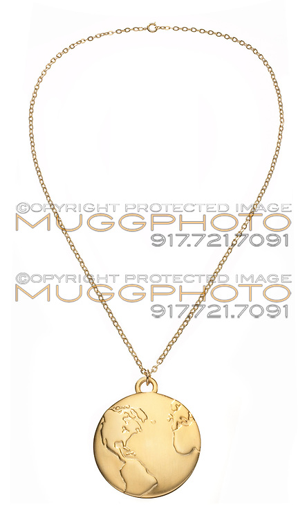 round earth gold necklace