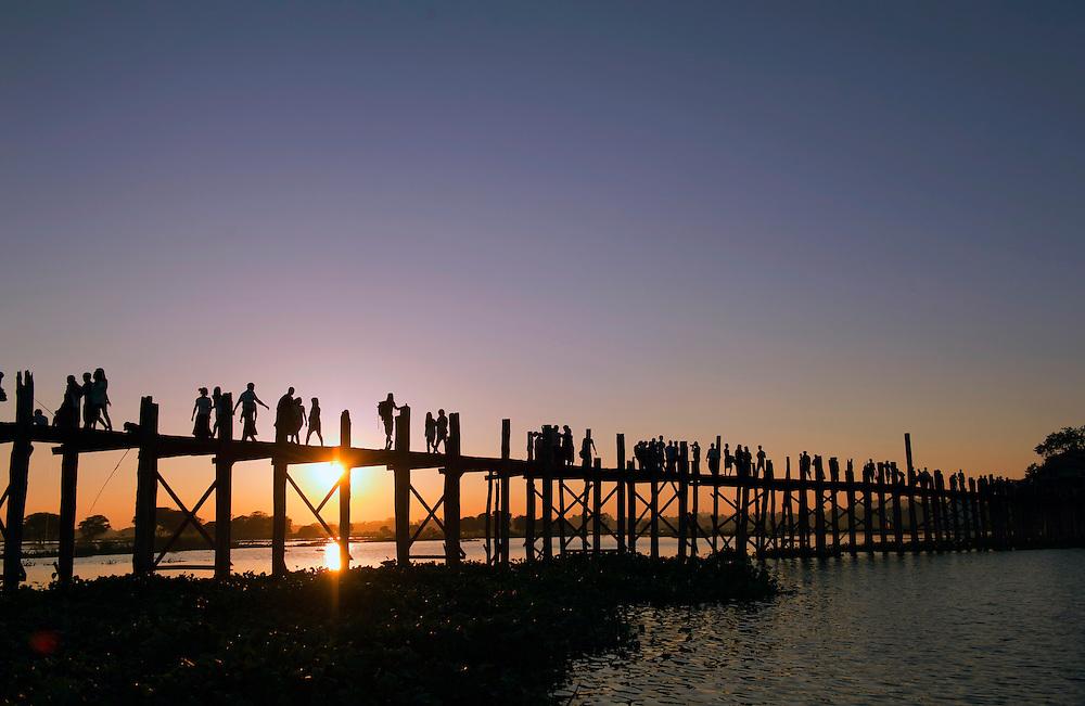 Sunset over the bridge at U