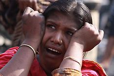 FEB 03 2013 Fire accident in a slum in Dhaka, Bangladesh