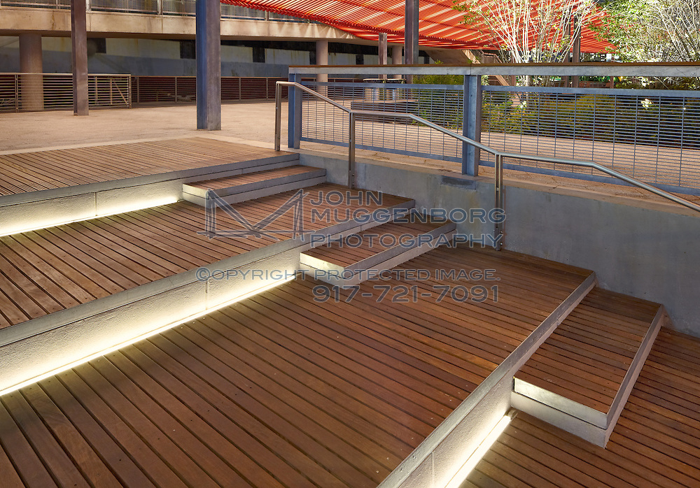 Stepped seating area on pier 15 of the east river park esplanade in