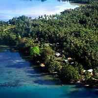 Aerial view of Gizo, Solomon Islands