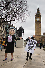 2017-03-29 Protest outside Parliament demands people have a final say on Brexit deal