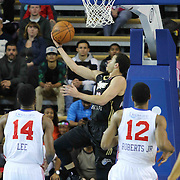 Erie BayHawks Guard Seth Curry (12) drives towards the basket for a easy layup in the first half of a NBA D-league regular season basketball game between the Delaware 87ers and the Erie BayHawk (Orlando magic) Friday, Jan. 02, 2015 at The Bob Carpenter Sports Convocation Center in Newark, DEL