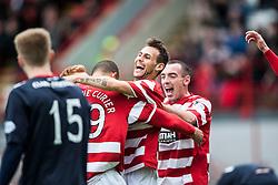 Hamilton's Anthony Andreu celebrates after scoring their goal.<br /> Half time : Hamilton 1 v 0 Falkirk, Scottish Championship played today at New Douglas Park.<br /> &copy;Michael Schofield.