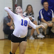 Charter KristenEdmiston (18) attempts to serve during the 2nd Round of the 2015 DIAA Girls Volleyball Tournament Saturday, Nov. 07, 2015 at Archmere Academy in Claymont.