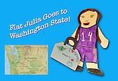 Flat Julia Goes to Washington State!
