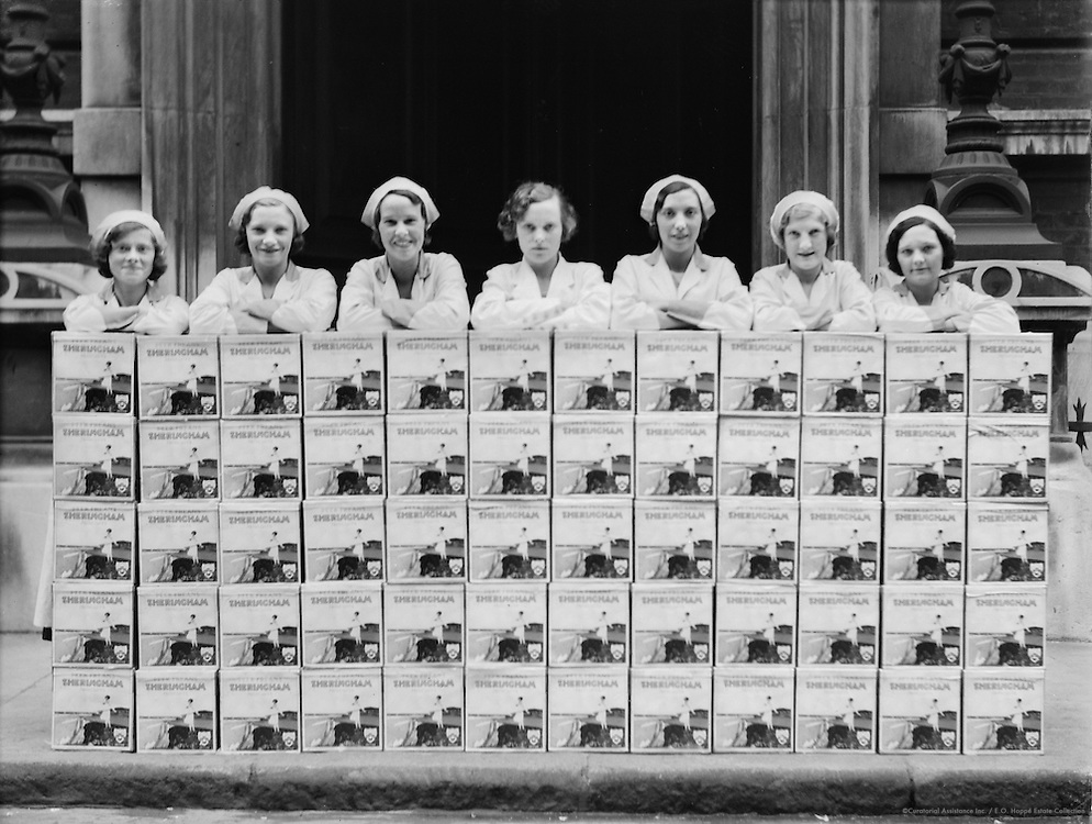 Workers at Peek Frean Biscuit Company, England, circa 1932