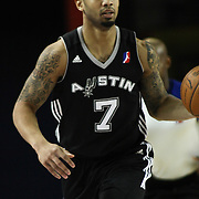 Austin Toros Guard Charlie Westbrook (7) dribbles the ball up the court in the course of a NBA D-league regular season basketball game between the Delaware 87ers (76ers) and the Austin Toros (Spurs) Monday, Jan. 27, 2014 at The Bob Carpenter Sports Convocation Center, Newark, DE