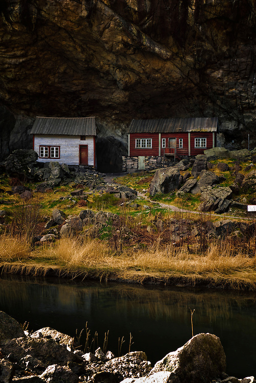 The outdoor museum «Helleren» in Sokndal, Rogaland.