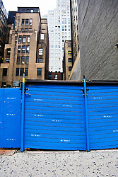 locked area in a New York City construction site