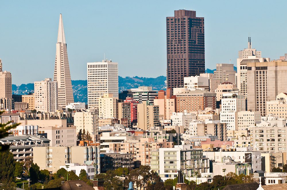 San Francisco city skyline, San Francisco, California, USA