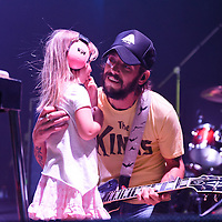 Ben Bridwell's daughter runs onstage while Band of Horses performs at Merriweather Post Pavilion in Columbia, MD. (Photo by Kyle Gustafson/www.kylegustafson.com)