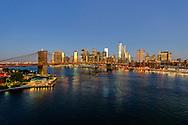 Brooklyn Bridge, designed by John Augustus Roebling, Connecting Brooklyn and Manhattan, Brooklyn Bridge Park, New York City, NY