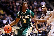 WEST LAFAYETTE, IN - DECEMBER 29: Marcus Thornton #3 of the William & Mary Tribe dribbles the ball in the back court as Terone Johnson #0 of the Purdue Boilermakers defends at Mackey Arena on December 29, 2012 in West Lafayette, Indiana. Purdue defeated William & Mary 73-66. (Photo by Michael Hickey/Getty Images) *** Local Caption *** Marcus Thornton; Terone Johnson
