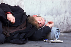 AUG 21 2000 Homeless Person in Regent Street, London