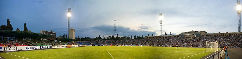 BAKU, AZERBAIJAN - Saturday, June 6, 2009: Wales take on Azerbaijan during the 2010 FIFA World Cup Qualifying Group 4 match at the Tofig Bahramov Stadium. (Pic by David Rawcliffe/Propaganda)