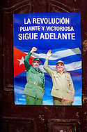 Revolutionary signs in Havana, Cuba.