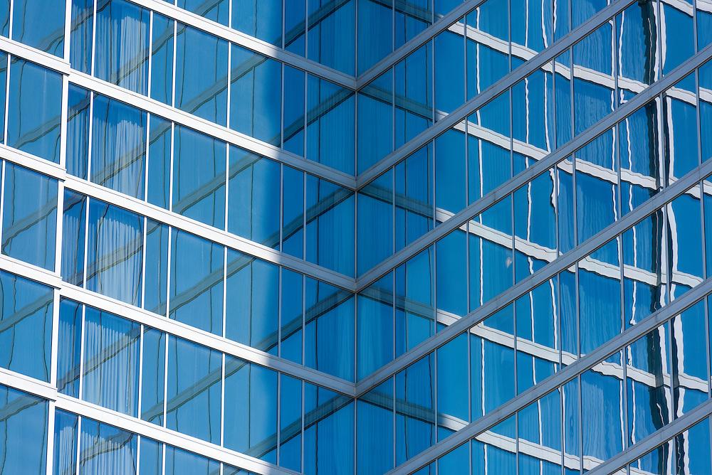 reflective windows on the Loew's Hotel Atlanta in midtown Atlanta