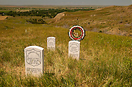 Little Bighorn Battlefield National Monument, Montana, markers Arikara Indian Scouts killed at battle